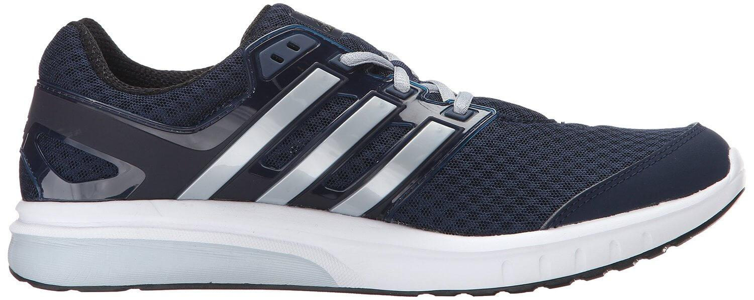 ADIPRENE technology is used for the midsoles of the Adidas Performance Galaxy Elite.
