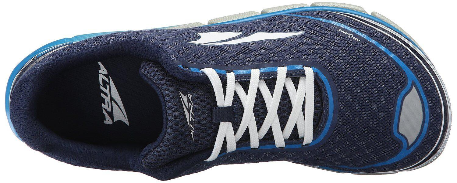 the upper of the Altra Torin 2.0 features a roomy toe box that encourages natural splay