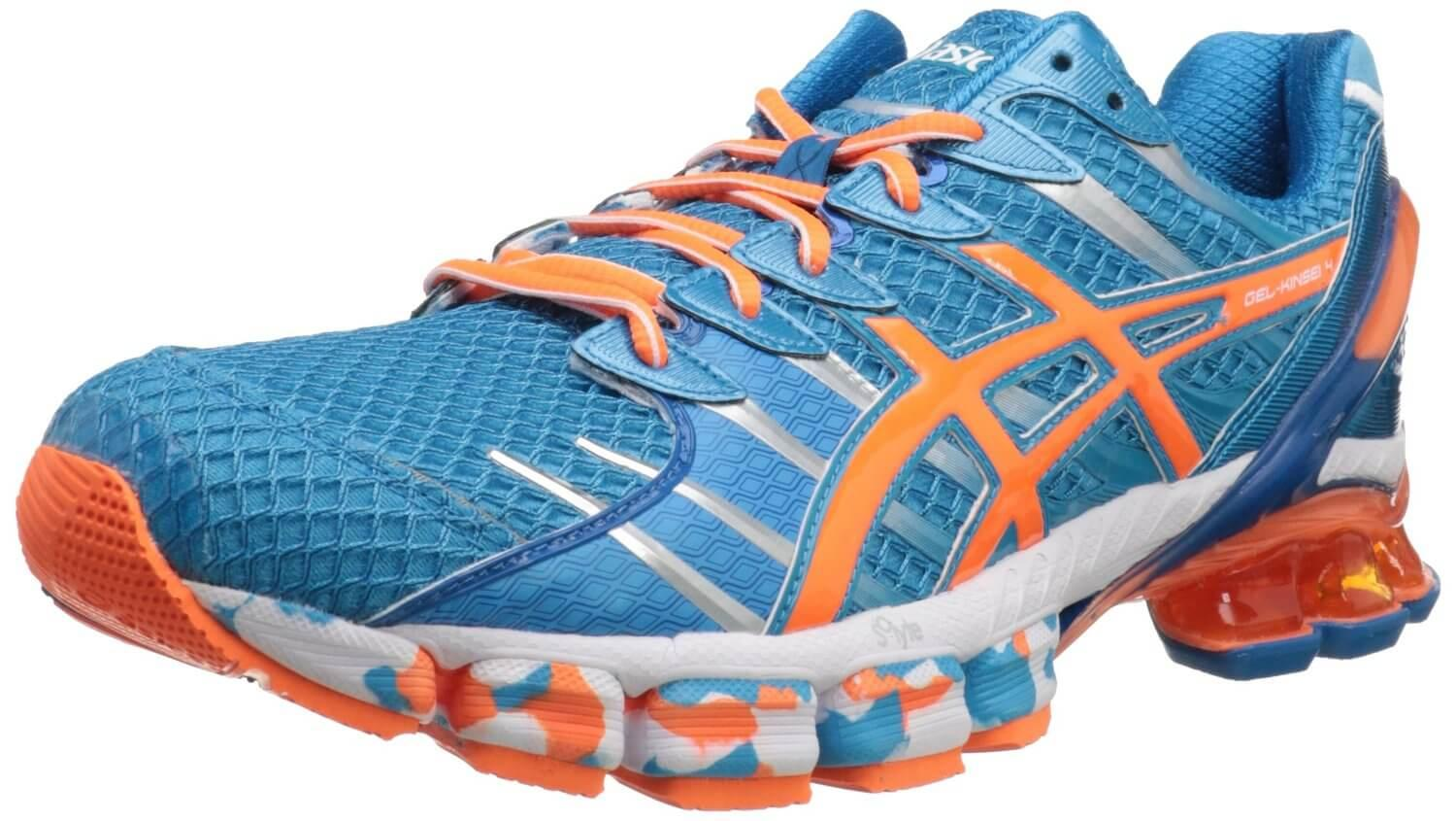 the ASICS Gel Kinsei 4 is a stability shoe that offers tenacious traction