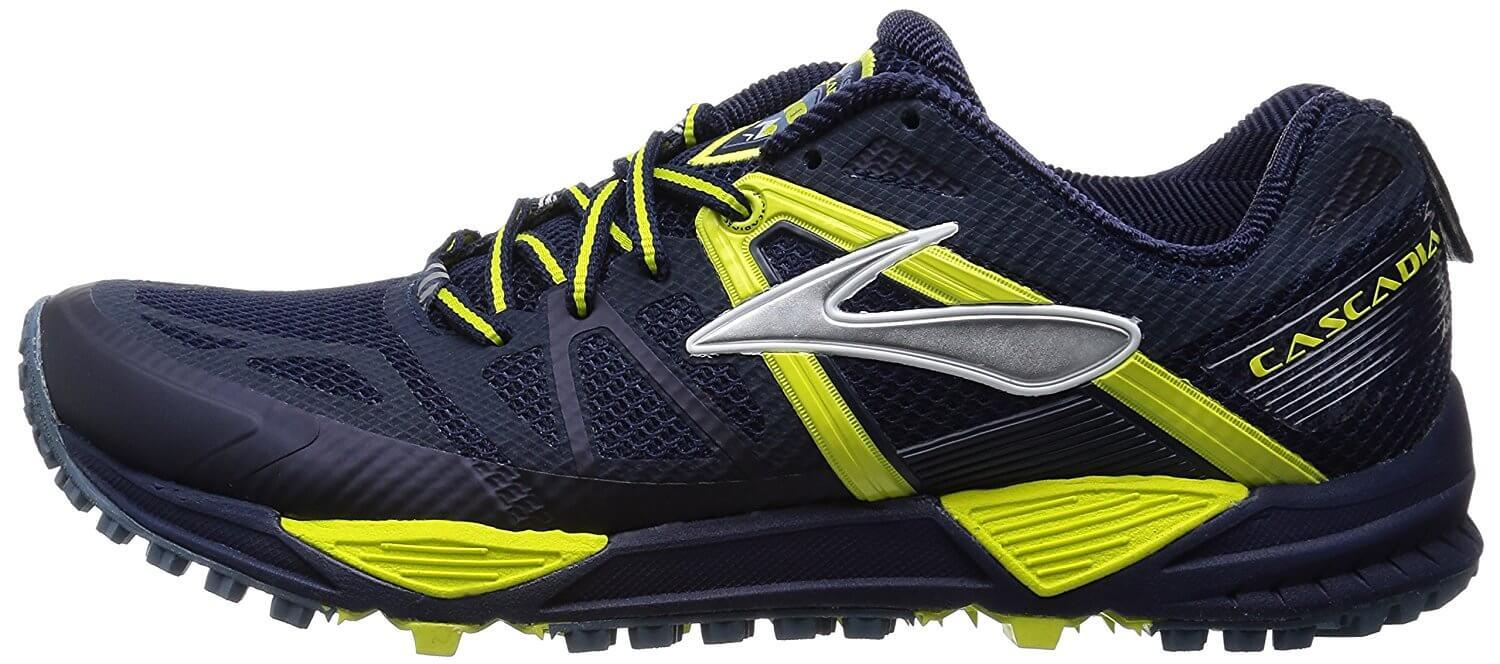 the Brooks Cascadia 10 is a low-cut trail running shoe that offers a responsive ride