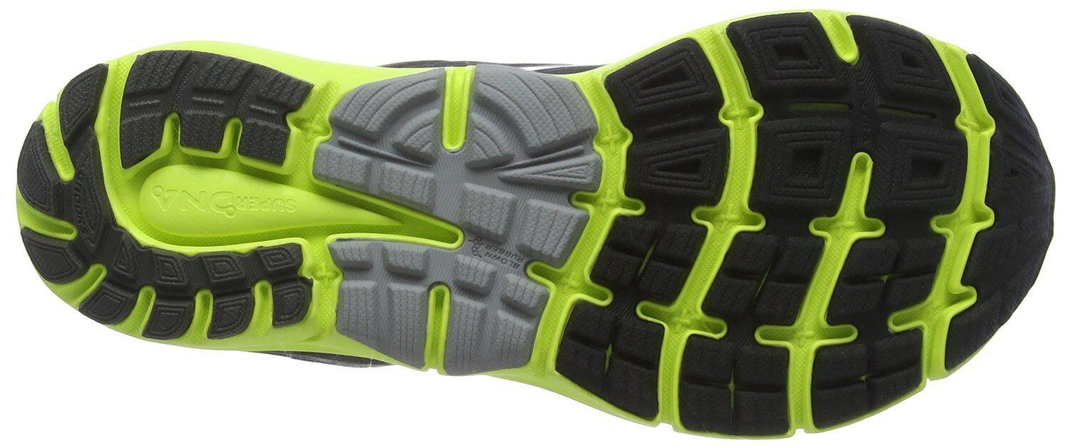 the long-lasting rubber compound of the Brooks Transcend 3 delivers a responsive ride