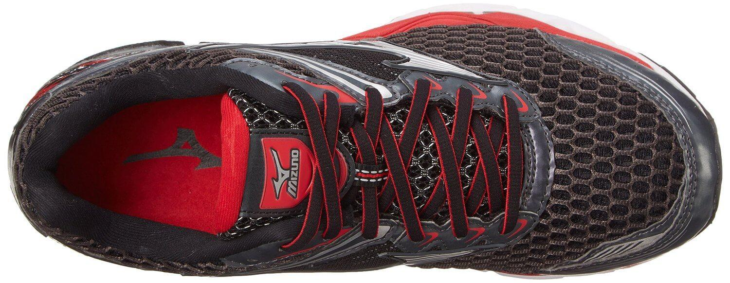 The breathable, flexible upper of the Mizuno Wave Creation 17