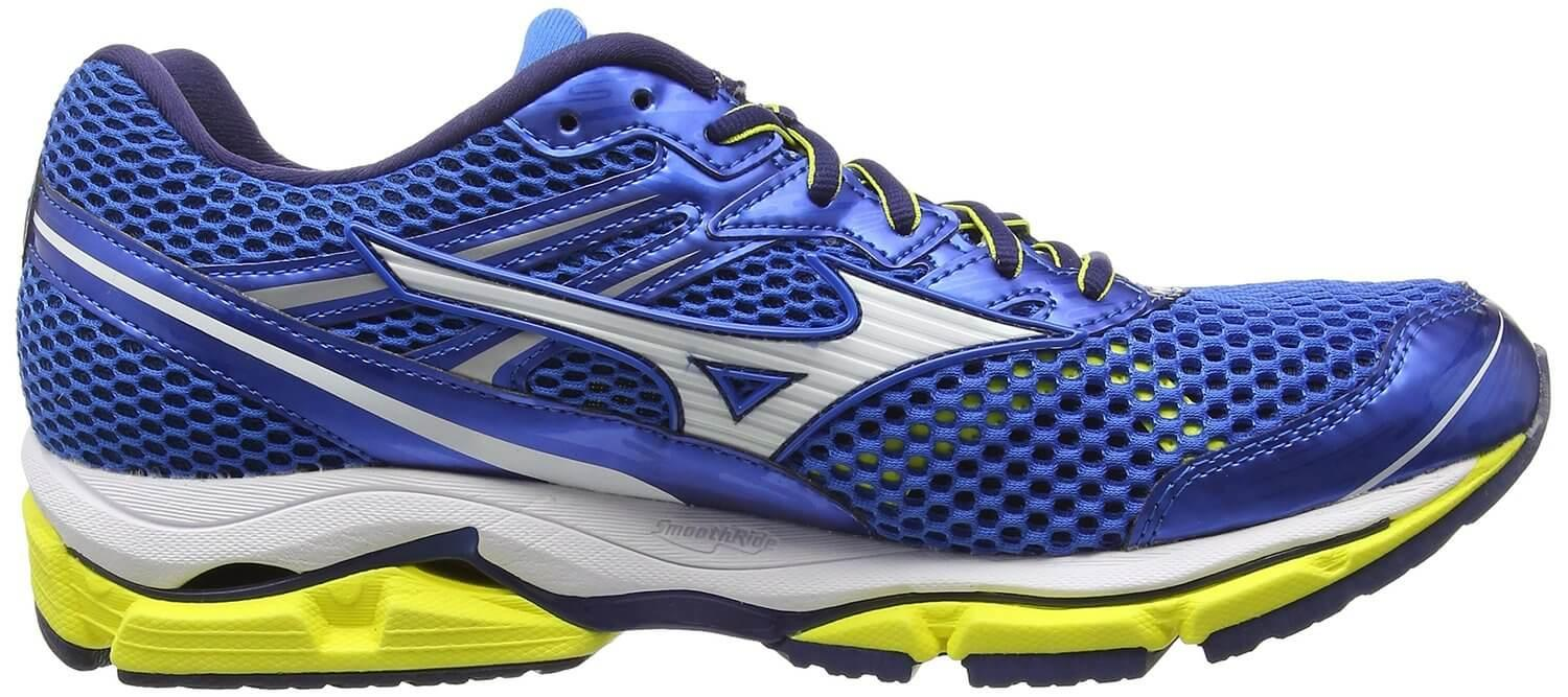 the Mizuno Wave Enigma 5 is a durable running shoe with a 12mm drop