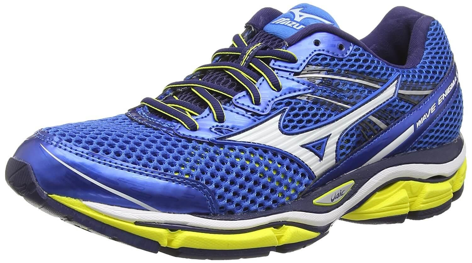 the Mizuno Wave Enigma 5 is a comfortable, long-lasting running shoe