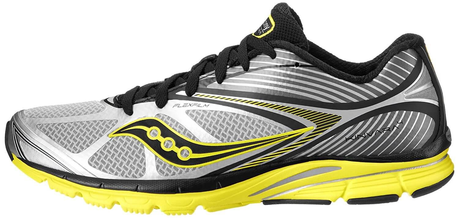 the Saucony Kinvara 4 has a slick, sleek design that's eye-catching