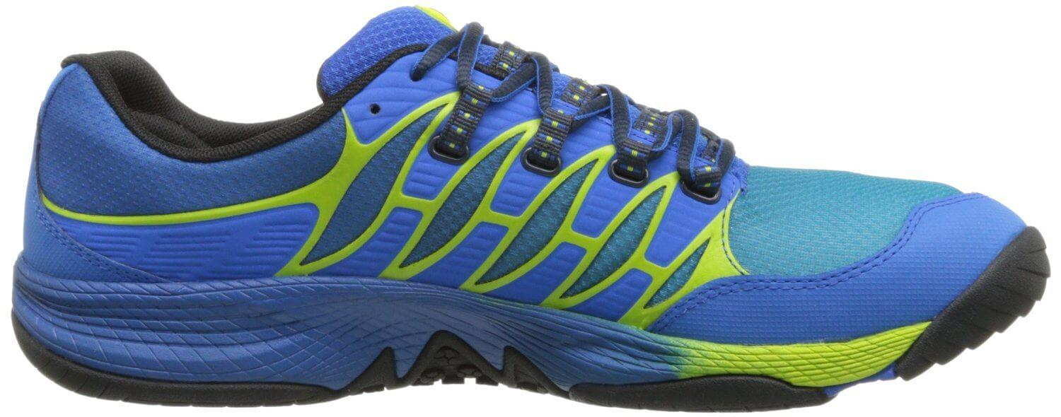 the Merrell AllOut Fuse features a Unifly midsole that's durable, comfortable, and responsive