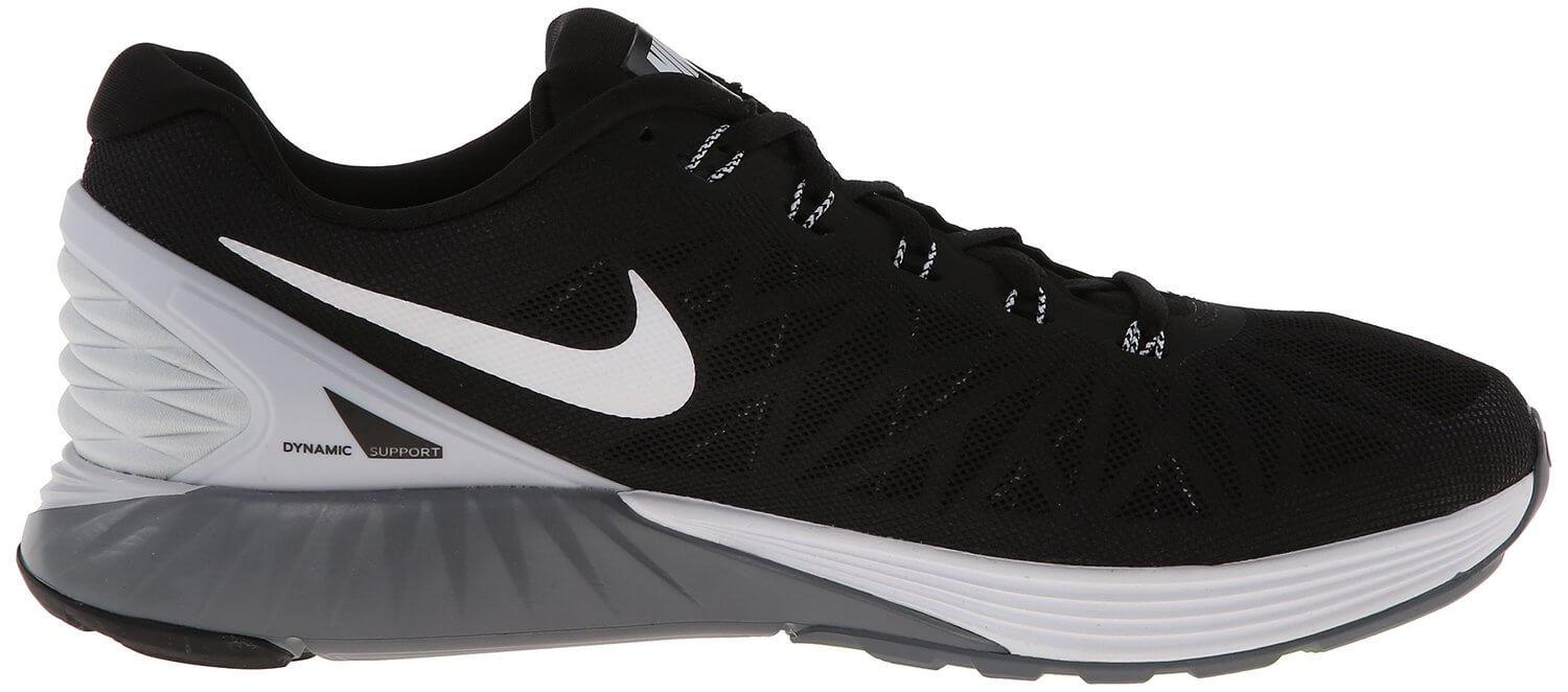 the Nike LunarGlide 6 features Nike's signature stylish design and is made of high-quality materials