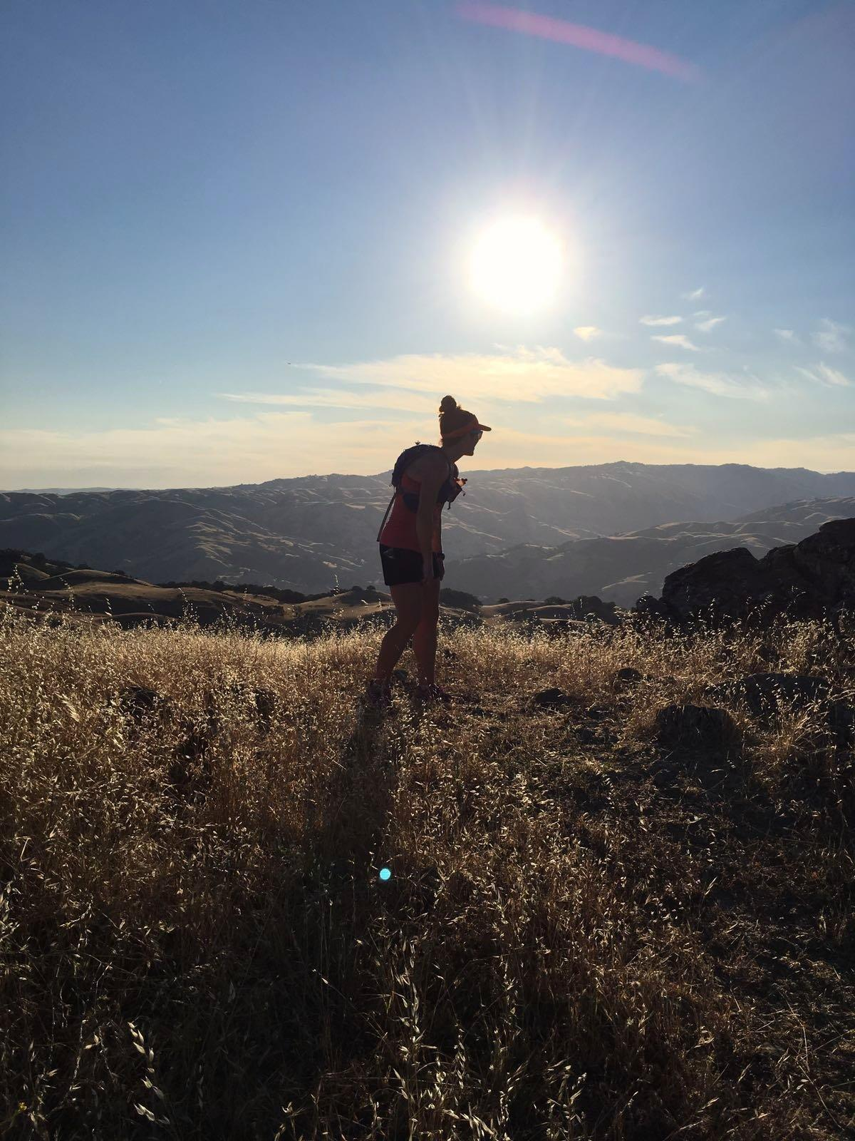 telling my goals to mountains on a recent trail run