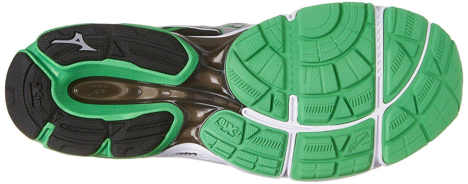 X10 rubber was used for the outsole of the Mizuno Wave Catalyst.