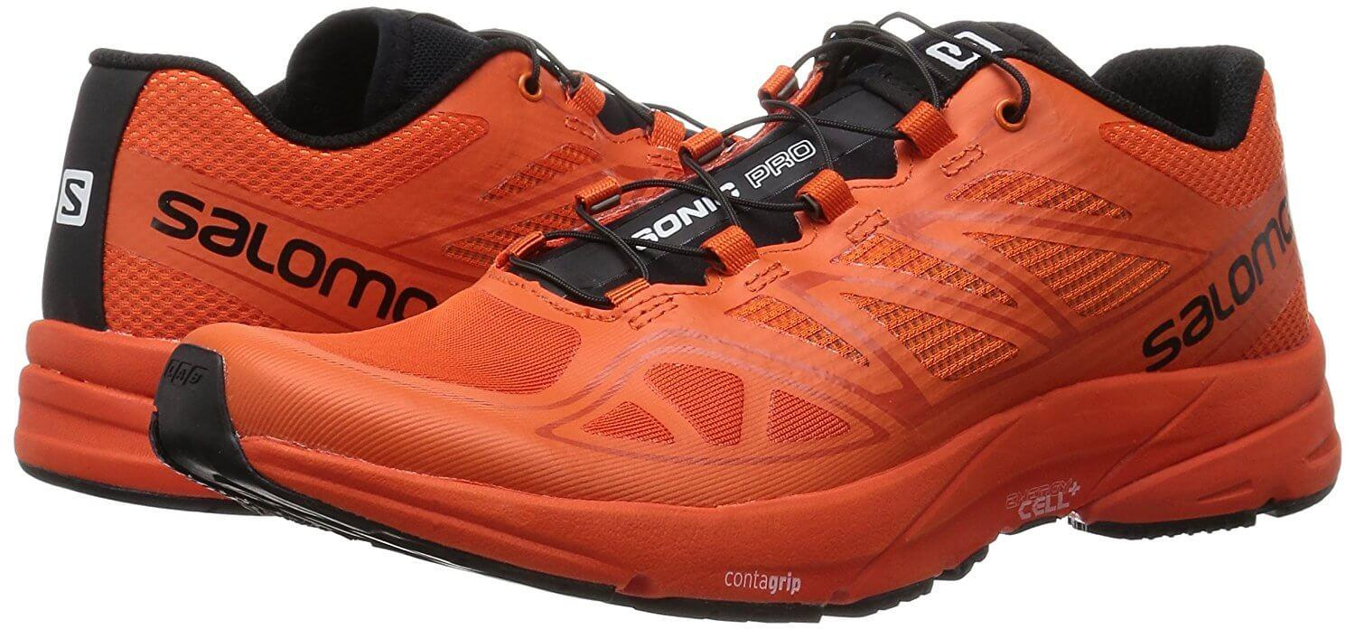 a pair of Salomon Sonic Pros are comfortable, lightweight, and made for high performance runs