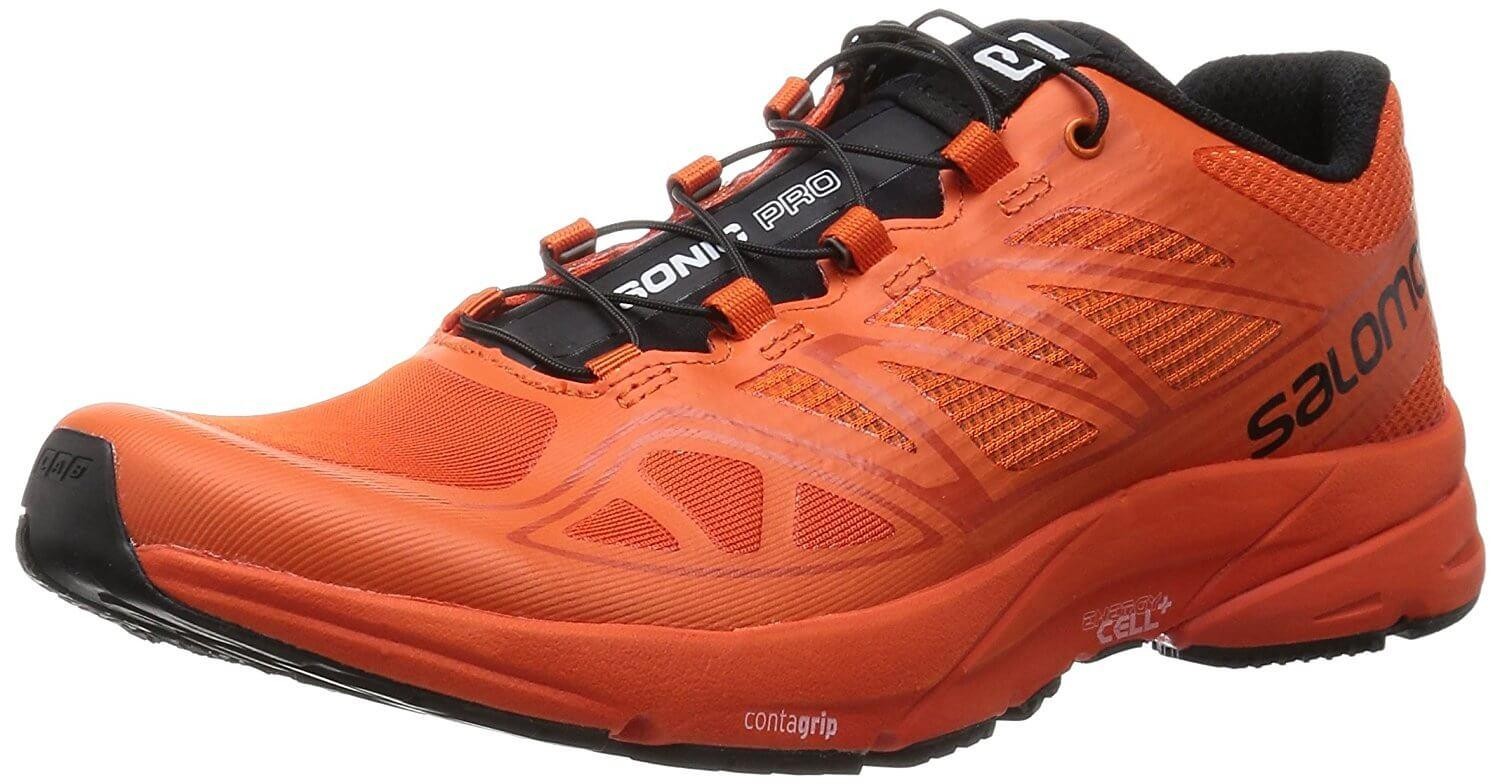 the Salomon Sonic Pro is a highly breathable, lightweight running shoe that experienced runners will appreciate