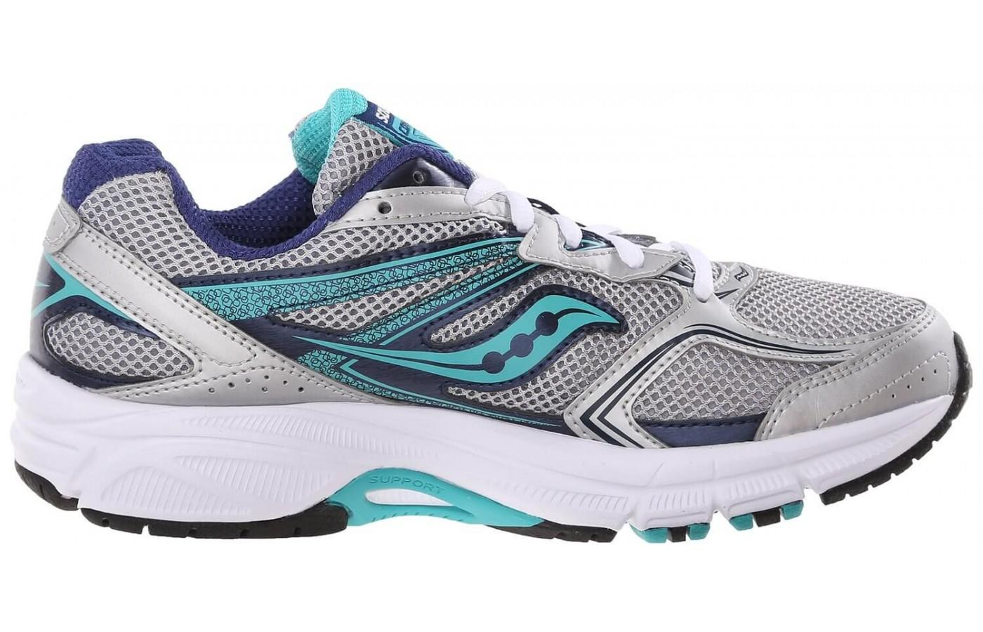 The Saucony Cohesion 9 midsole features ample cushioning with a light weight