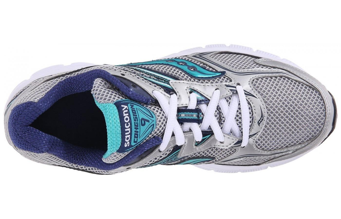 The Saucony Cohesion 9 has an extra-stable heel cup in the sole.
