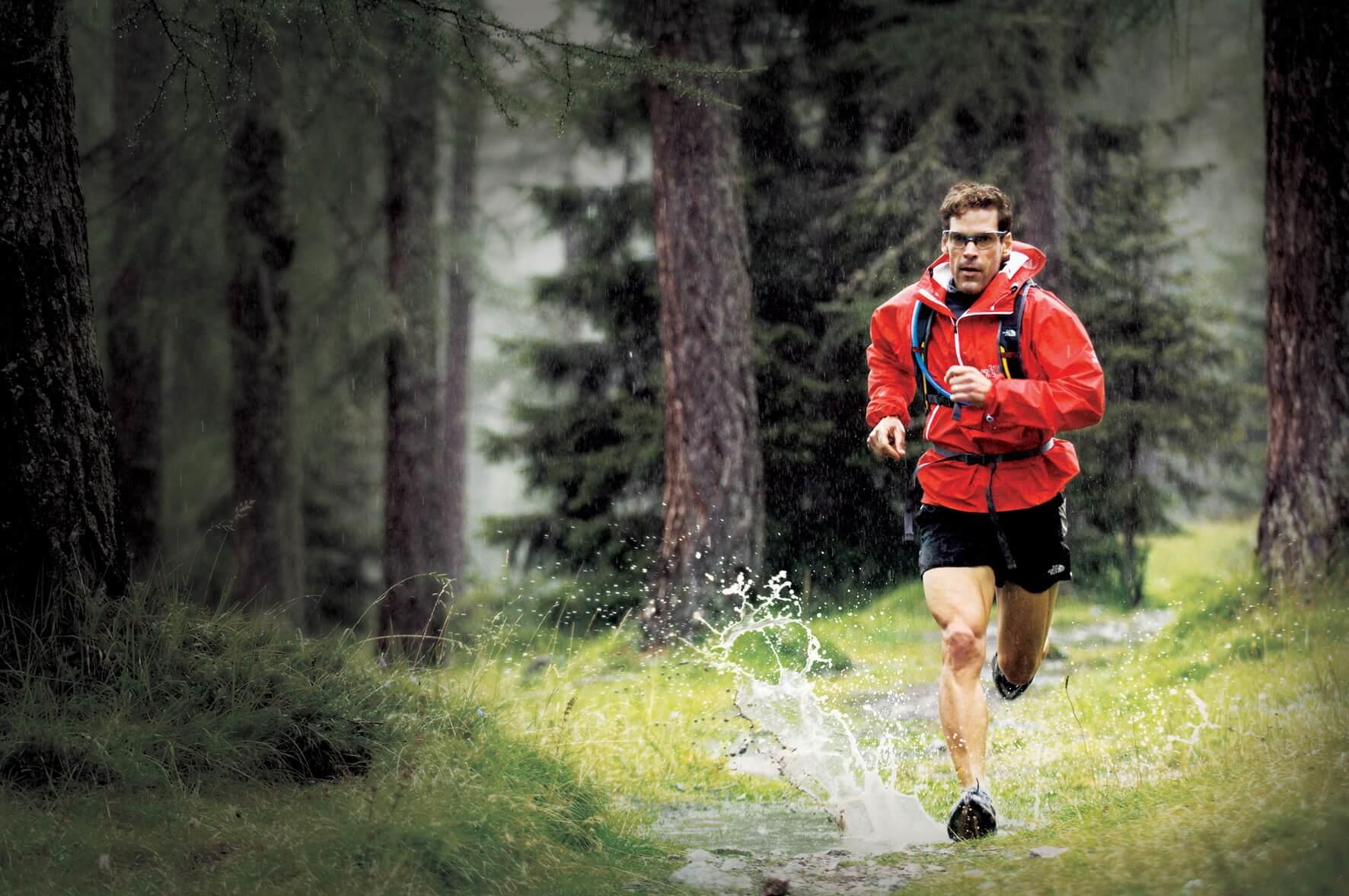 Dean Karnazes running in the Dolomites, Cortina, Italy.