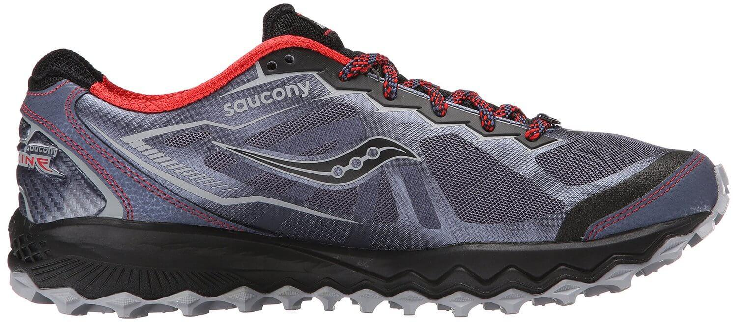 the Saucony Peregrine 6 is a stylish trail shoe with a low profile for maximum range of motion
