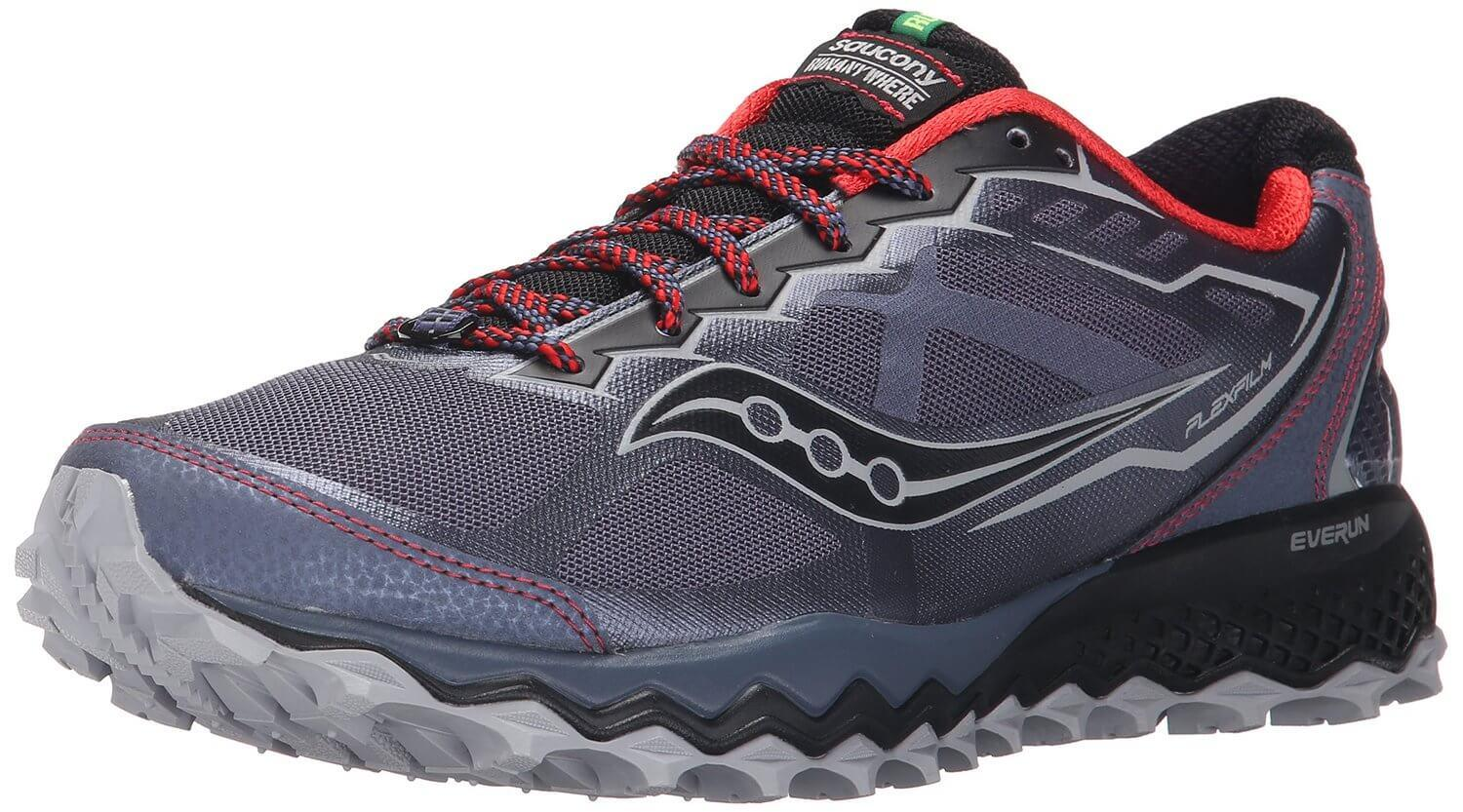 the Saucony Peregrine 6 is a durable trail shoe that offers breathability and great grip