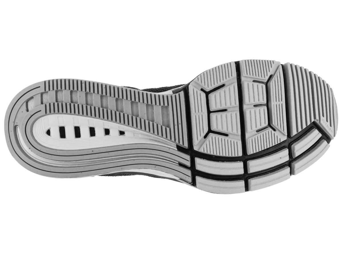 The outsole of the Nike Air Zoom Odyssey features a waffle pattern near the forefoot.