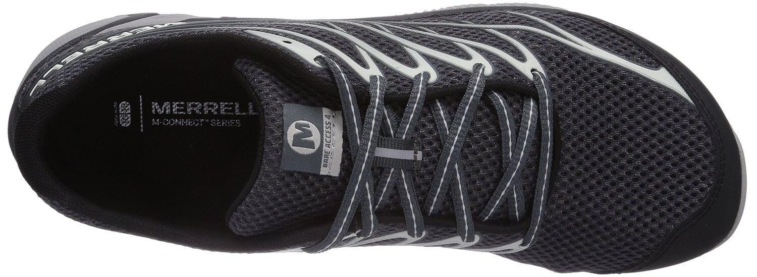 the upper of the Merrell Bare Access 4 is made from a breathable upper mesh