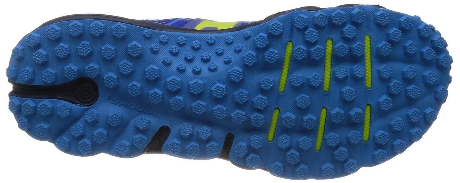 Blown rubber used for the Brooks PureGrit 4 provides excellent lightweight cushioning.