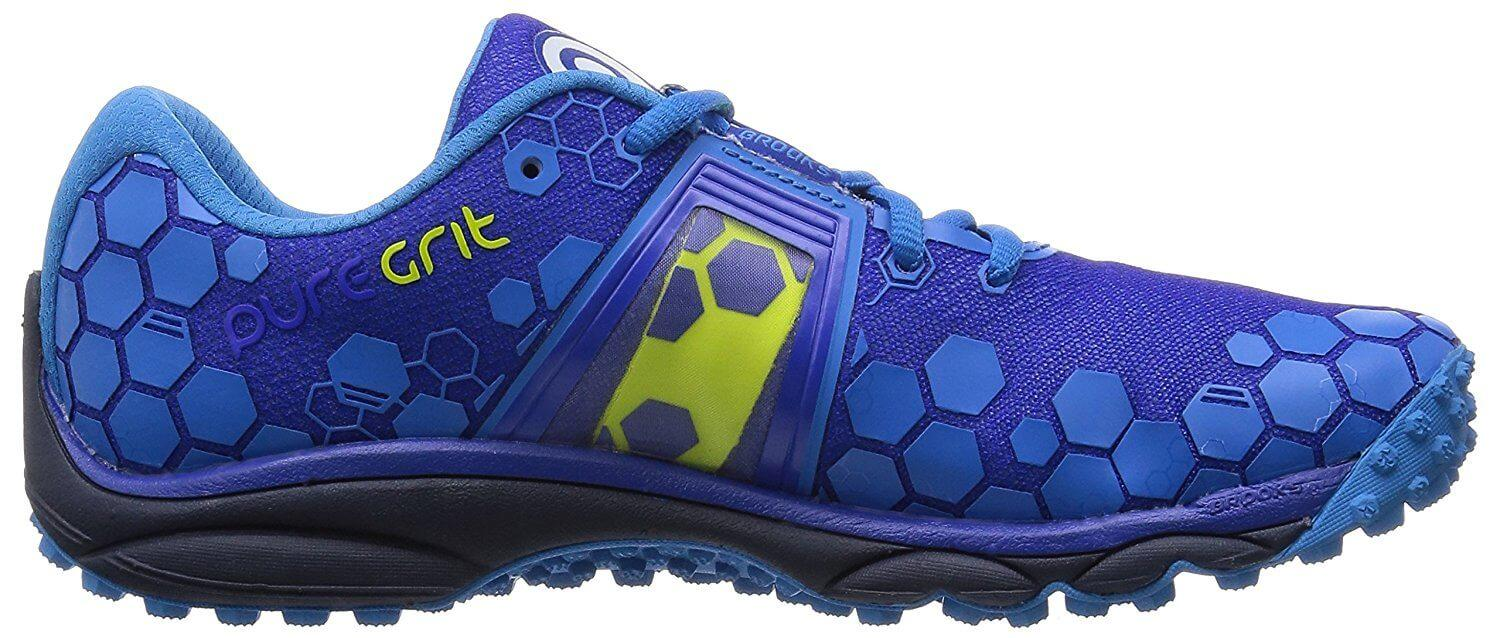 The ergonomic midsole of the Brooks PureGrit 4 helps runners with gait and pronation issues.