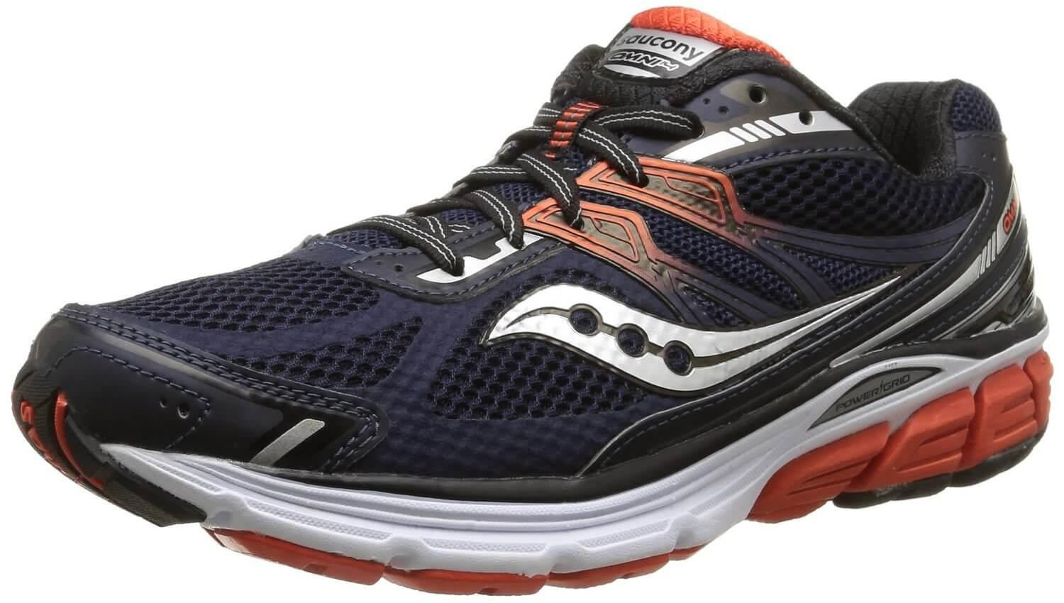 7b76ad12990f The Saucony Omni 14 uses a combination mesh synthetic leather upper.