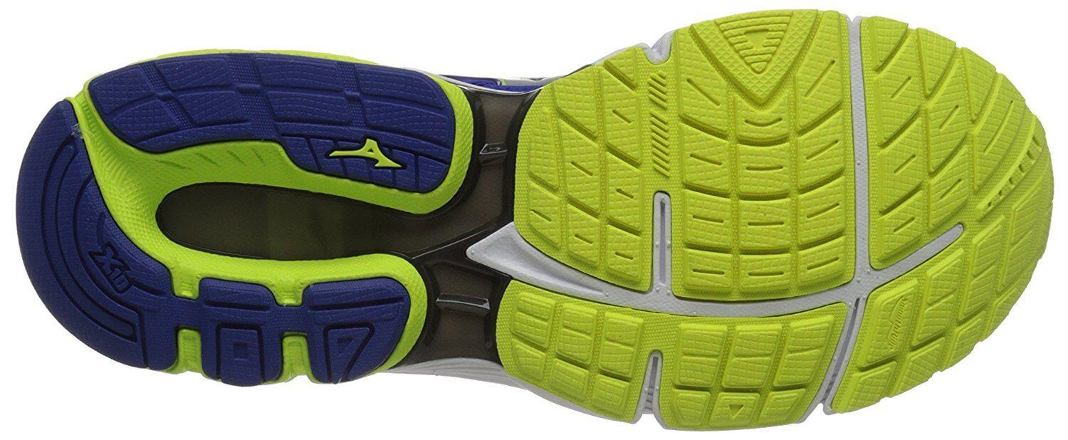 the outsole of the Mizuno Wave Inspire 12 features a great amount of traction and dynamic tread design