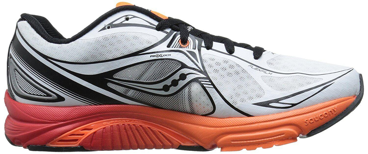 The interior of the Saucony Mirage 5 is lined with very comfortable material.