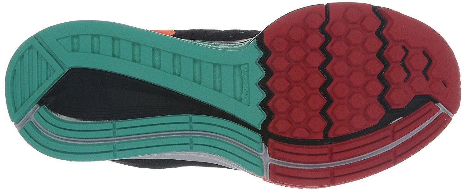 A combination of Cushlon and Phylon foam was used for the Nike Air Zoom Structure 18's outsole.