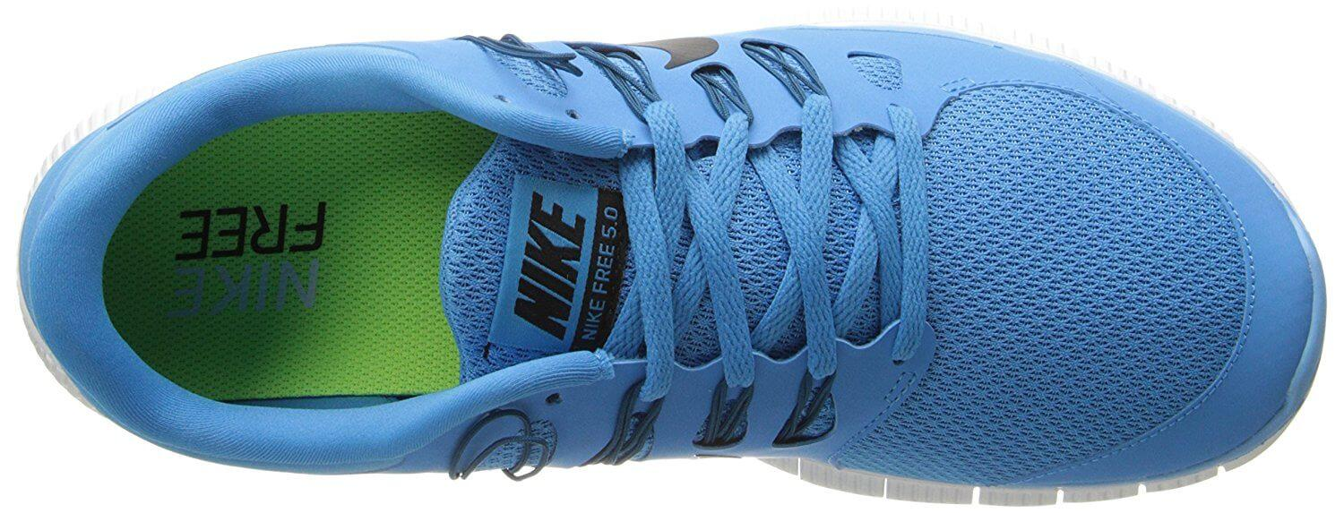 9b6ab33d9f5b An asymmetrical lacing pattern on the Nike Free 5.0+ makes a bold stylistic  statement.