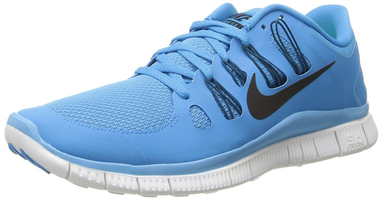 197e1900be1 Flywire lace technology secures the upper part of the Nike Free 5.0+.