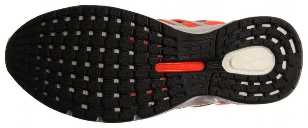 The Adiwear carbon rubber used in the Adidas Questar Boost's outsole is highly resistant to abrasions.