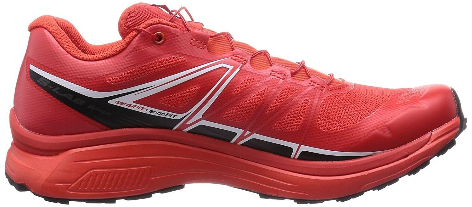 The EVA midsole on the Salomon S-Lab Wings offers excellent stability and cushioning.