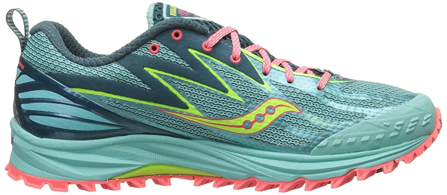 A POWERGRID midsole on the Saucony Peregrine 5 provides excellent responsiveness.