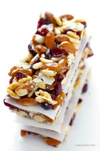 9. Cranberry Almond Protein Bars