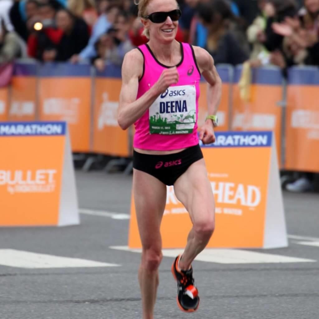 Deena Kastor in action at the 2103 LA Marathon.