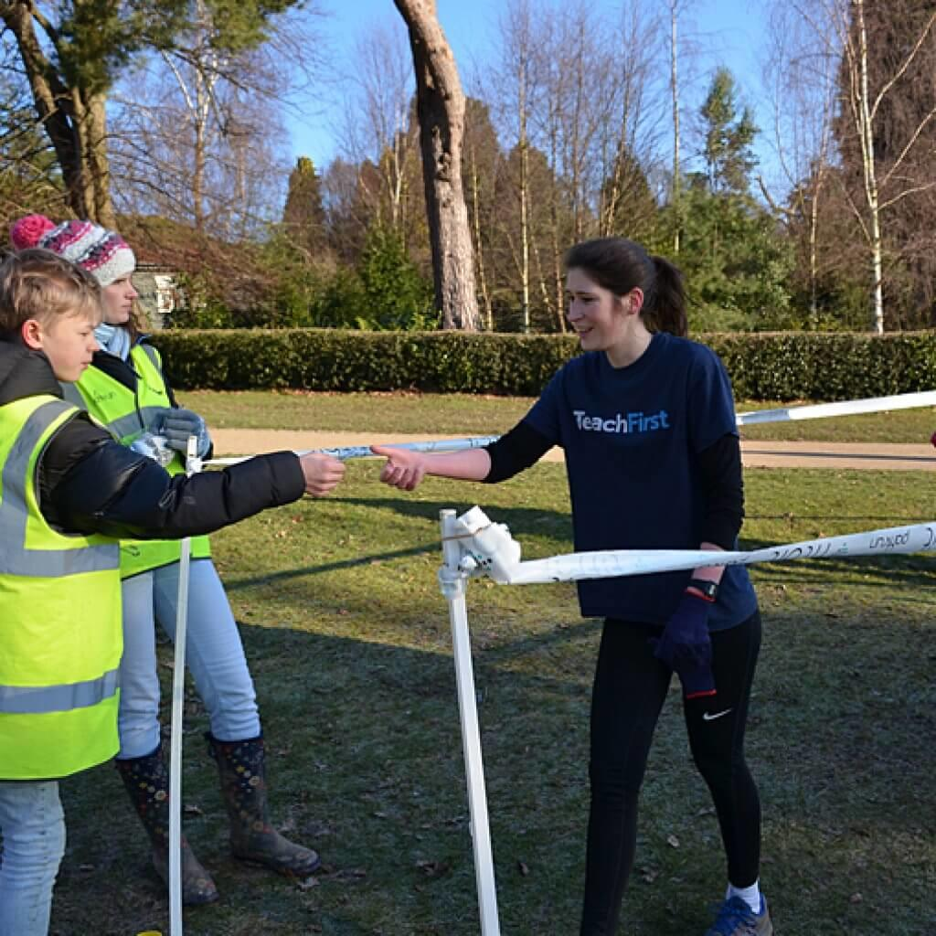 parkrun finish funnel.