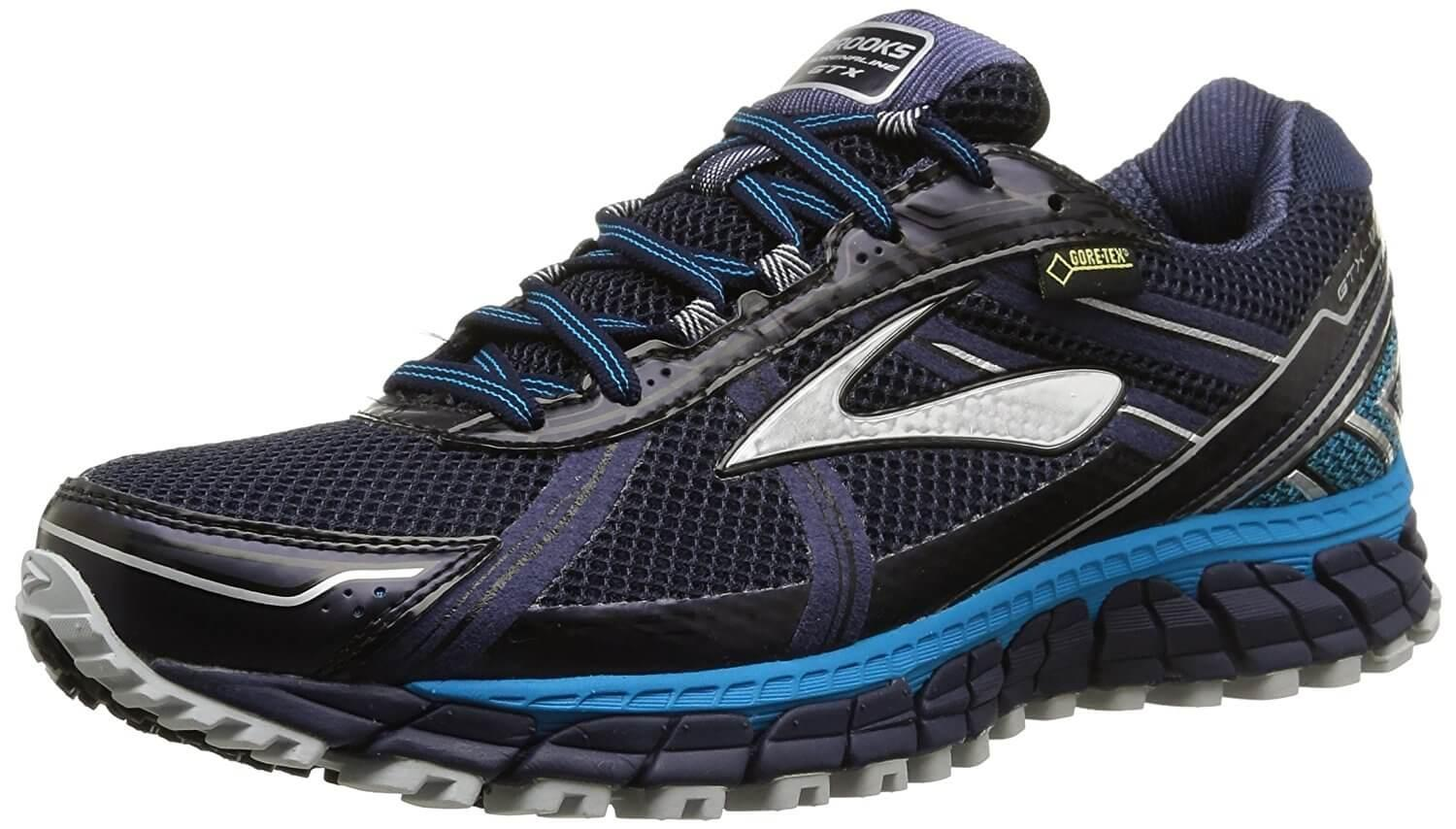 Three quarter view of the Brooks Adrenaline ASR 12 GTX