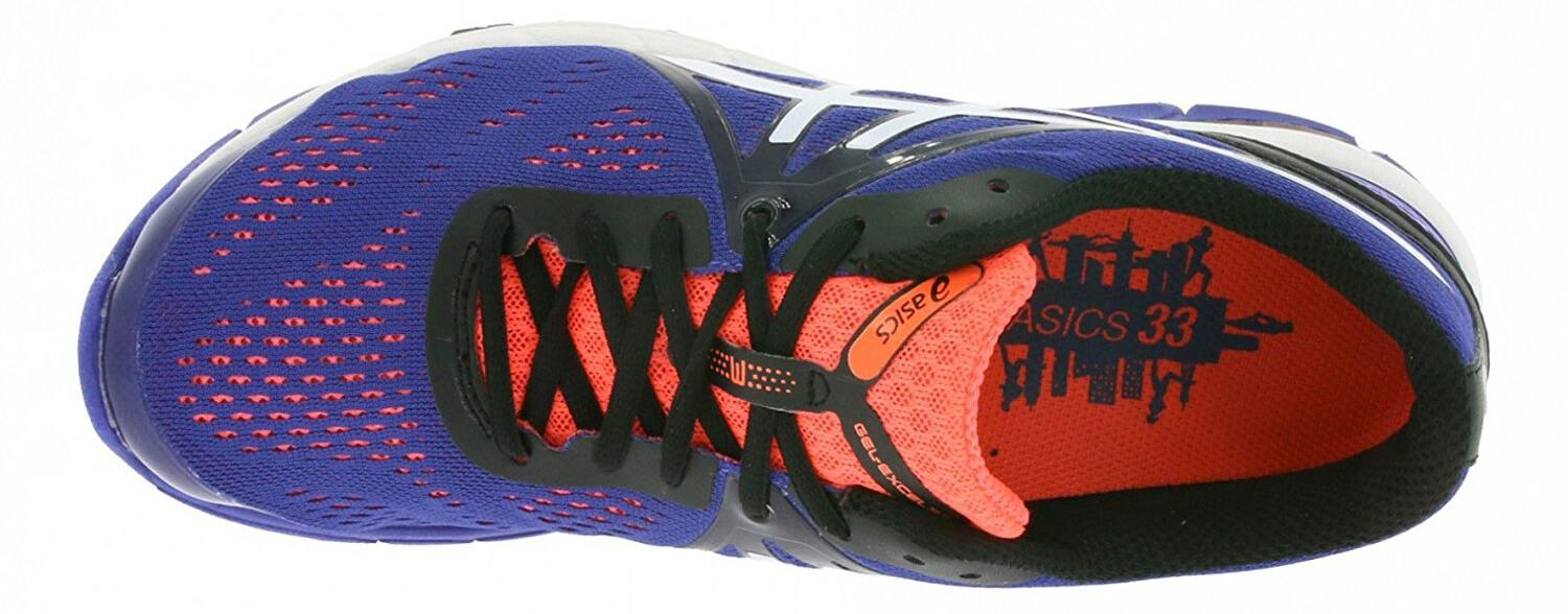 A top view of the Asics Gel Excel33