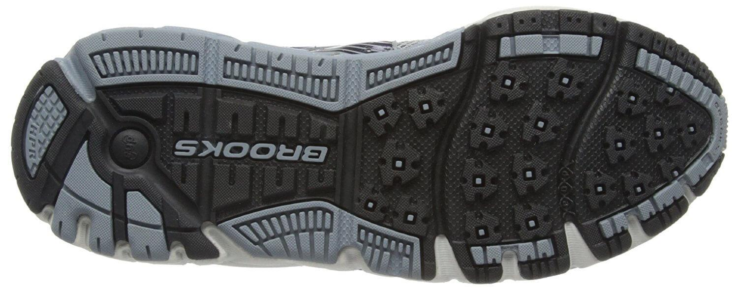 A bottom view of the Brooks Addiction 11 running shoe
