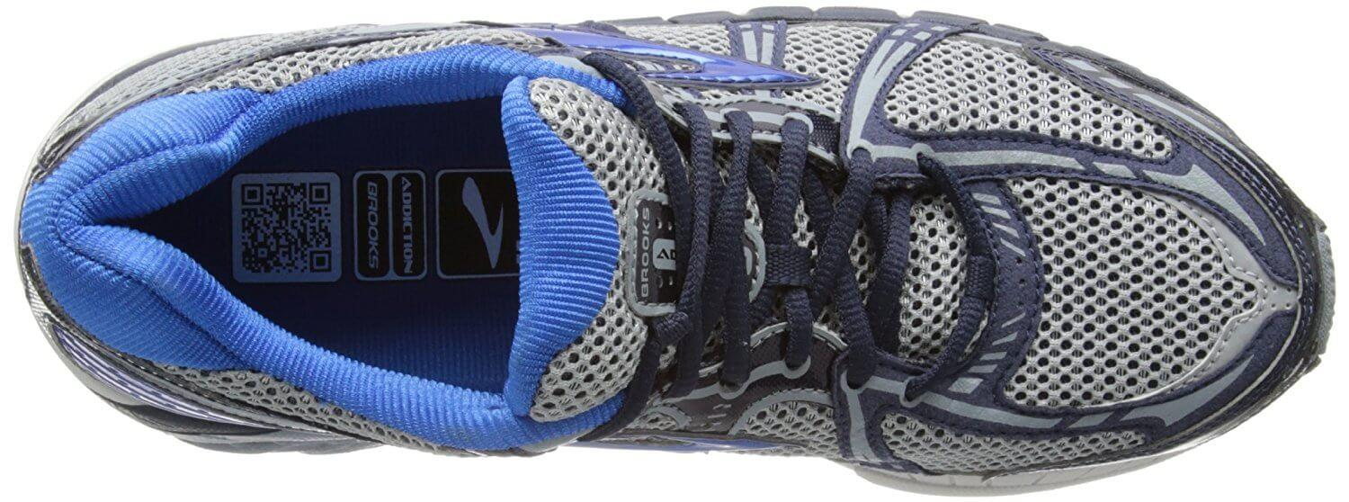 A top view of the Brooks Addiction 11 running shoe