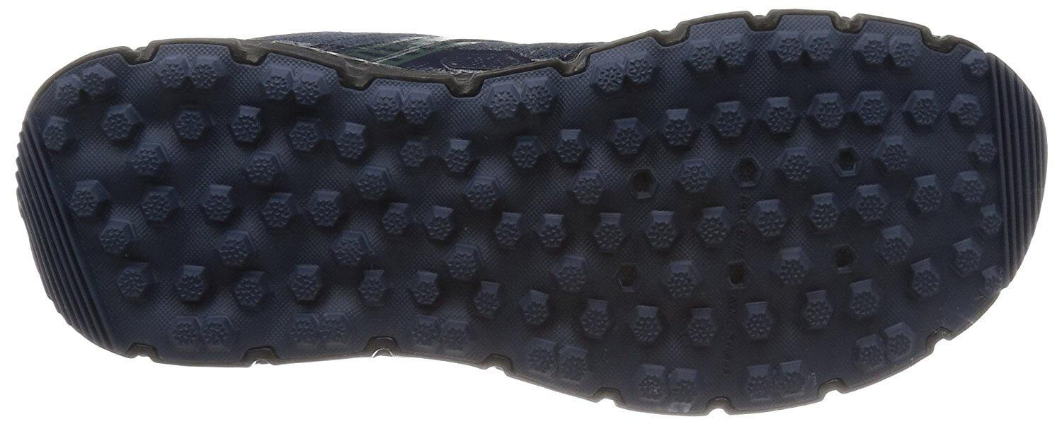 A bottom view of the Brooks PureGrit 5 running shoe