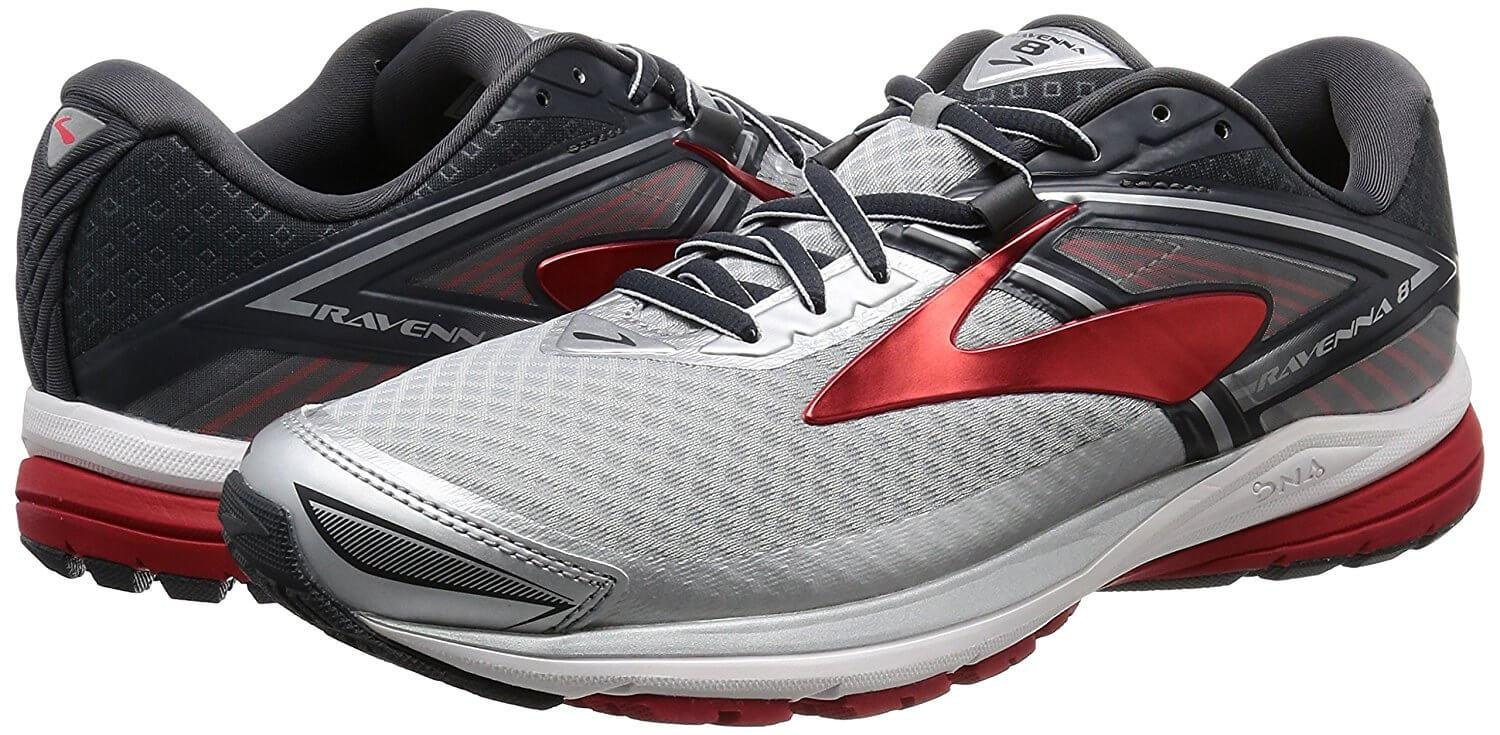 A pair of the Brooks Ravenna 8 running shoe