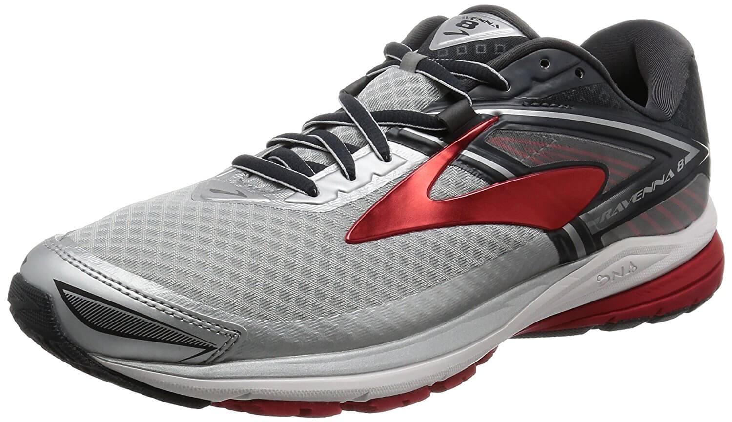 e7c21a6731782 A three quarter perspective of the Brooks Ravenna 8 running shoe ...