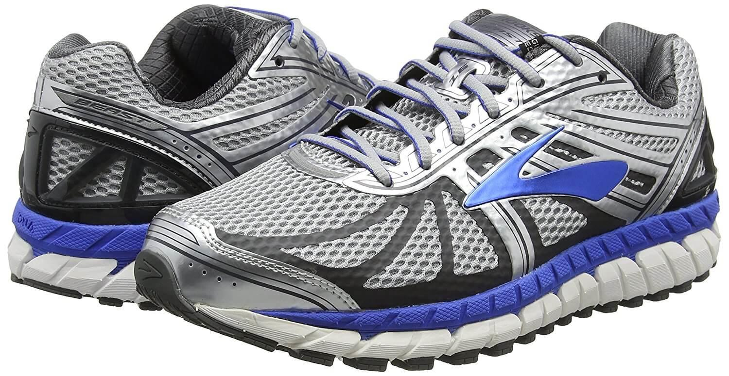 A pair of Brooks Beast 16 running shoes