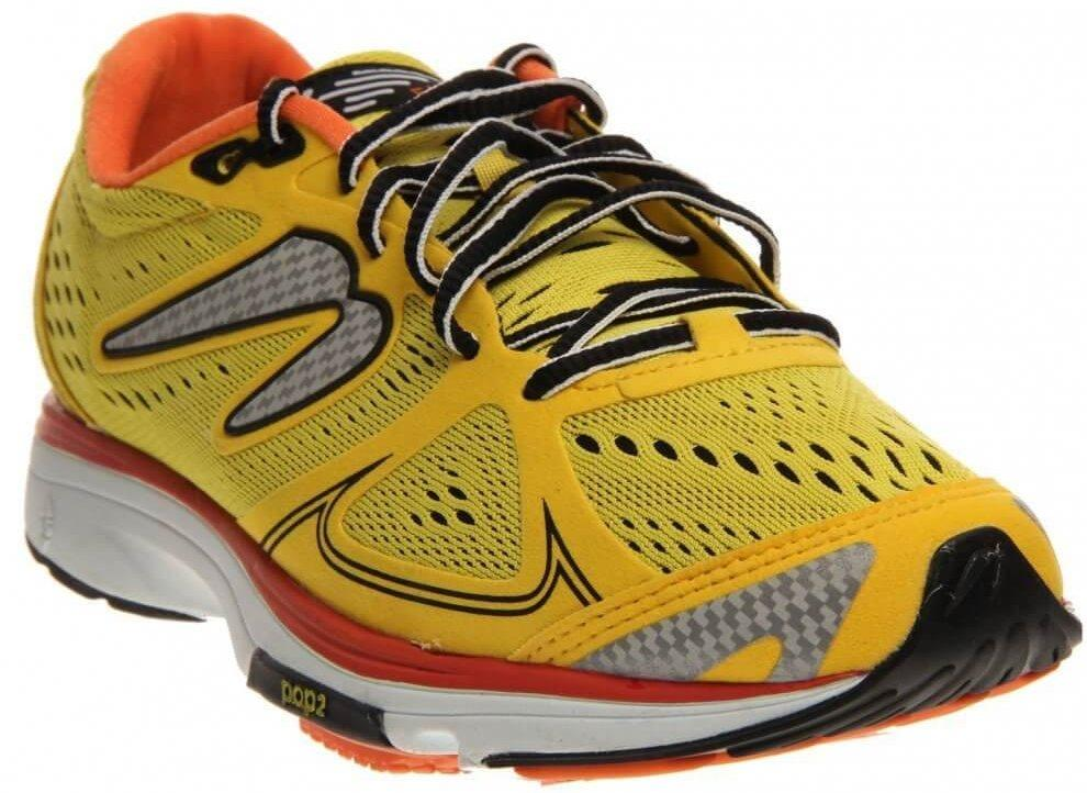 A three quarter view of the Newton Fate running shoe