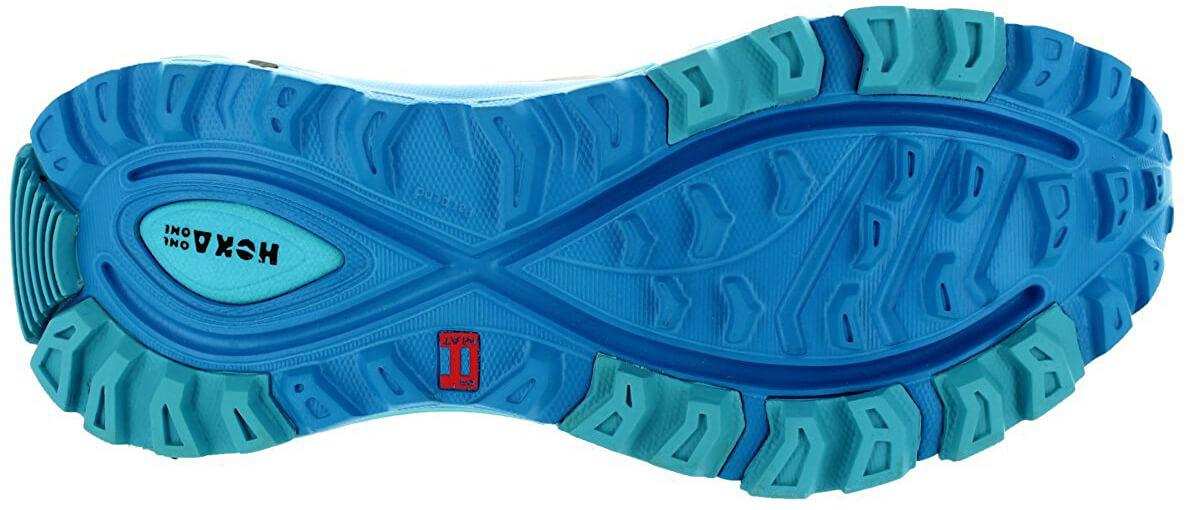 A bottom view of the Hoka One One Mafate Speed