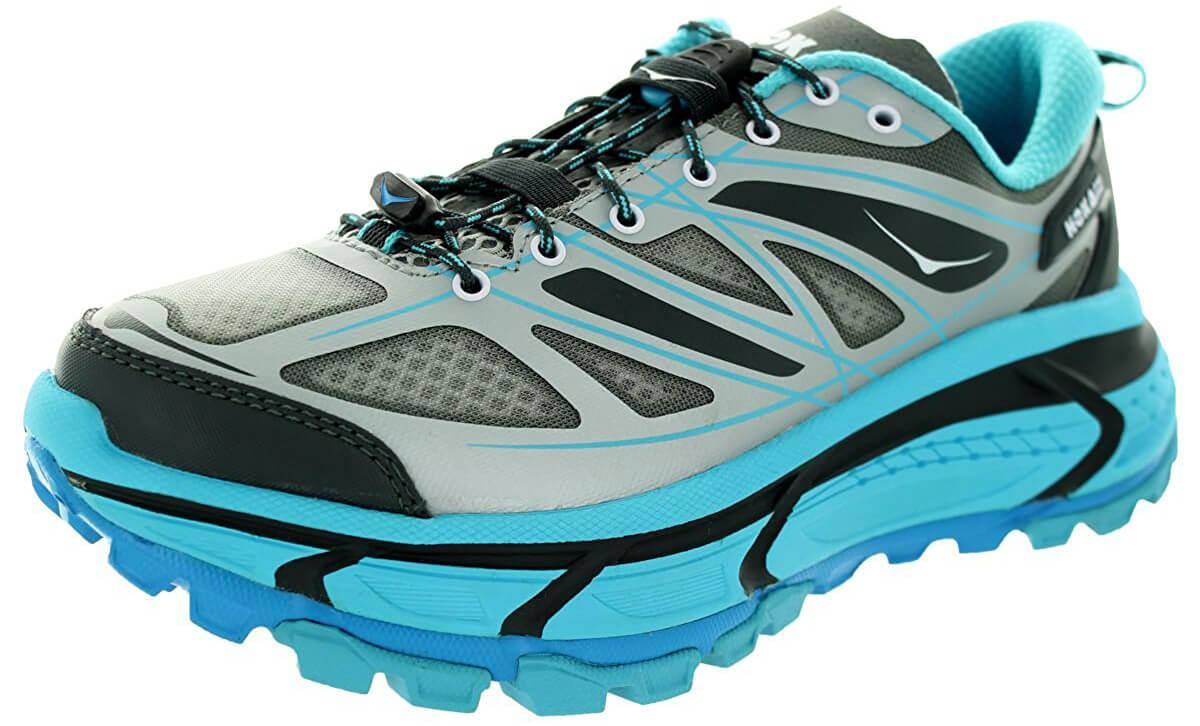 A three quarter perspective of the Hoka One One Mafate Speed