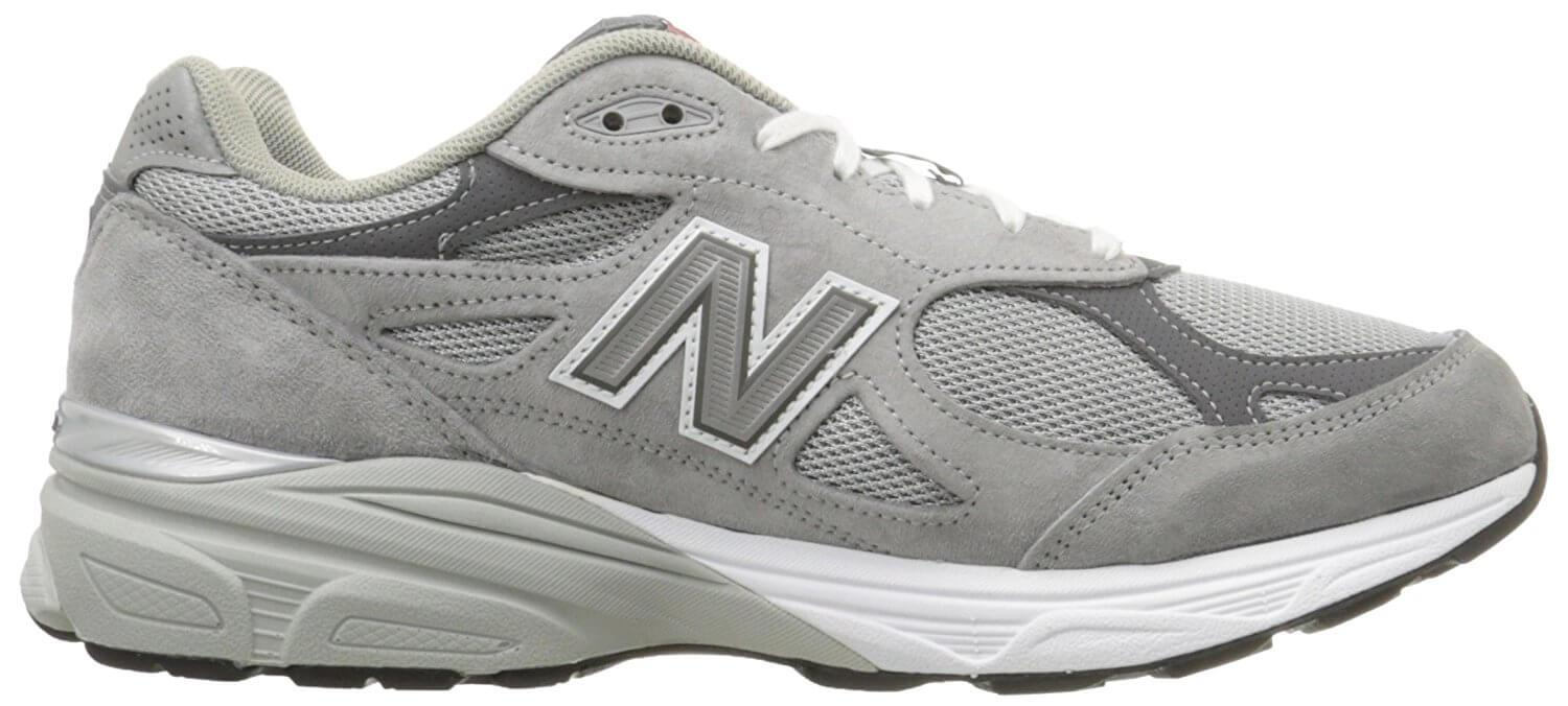 A lateral view of the New Balance 990v3 running shoe