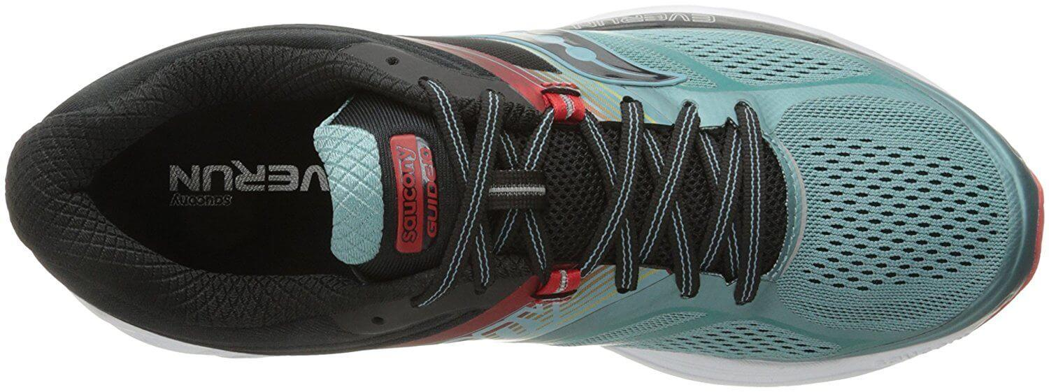 A top view of the Saucony Guide 10