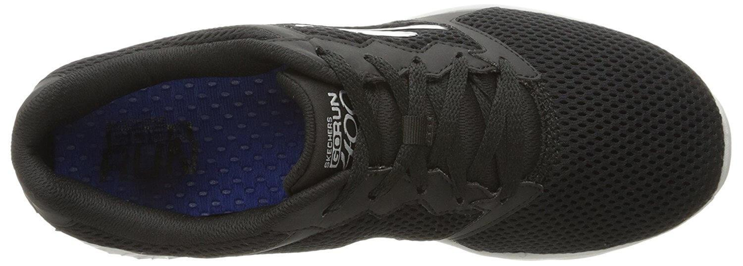 A top view of the Skechers GOrun 400 Running Shoe